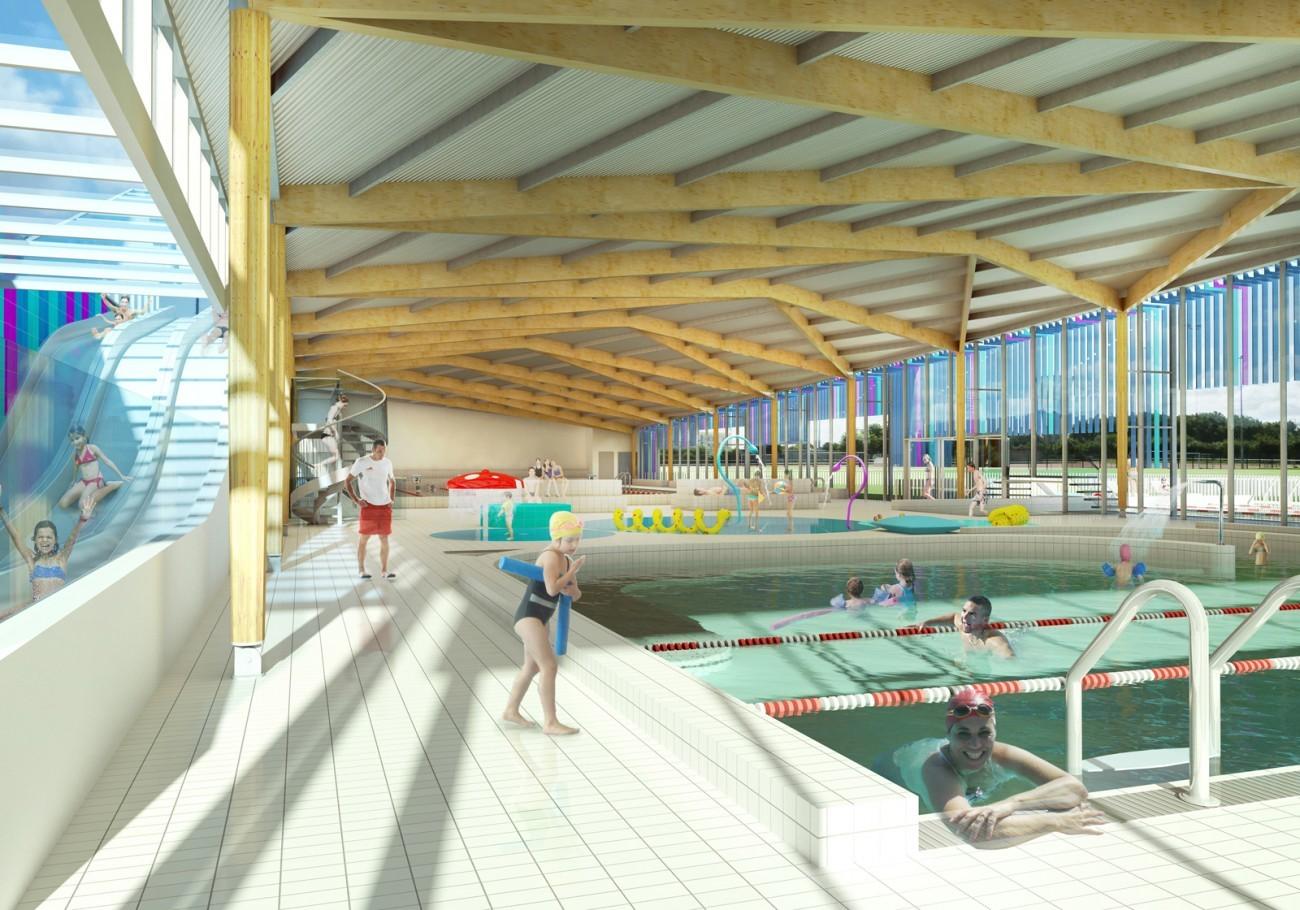bourgueil rouleau architectes centre aquatique jou l s tours 37. Black Bedroom Furniture Sets. Home Design Ideas