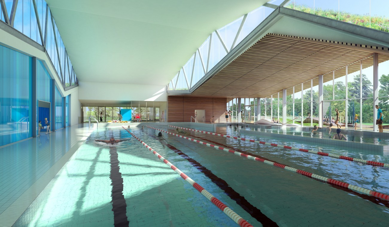 Bourgueil rouleau architectes piscine ch teau for Piscine 37