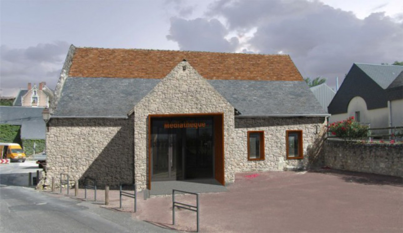 Bourgueil rouleau architectes r alisation d 39 une m diath que vei - Cout rehabilitation grange ...