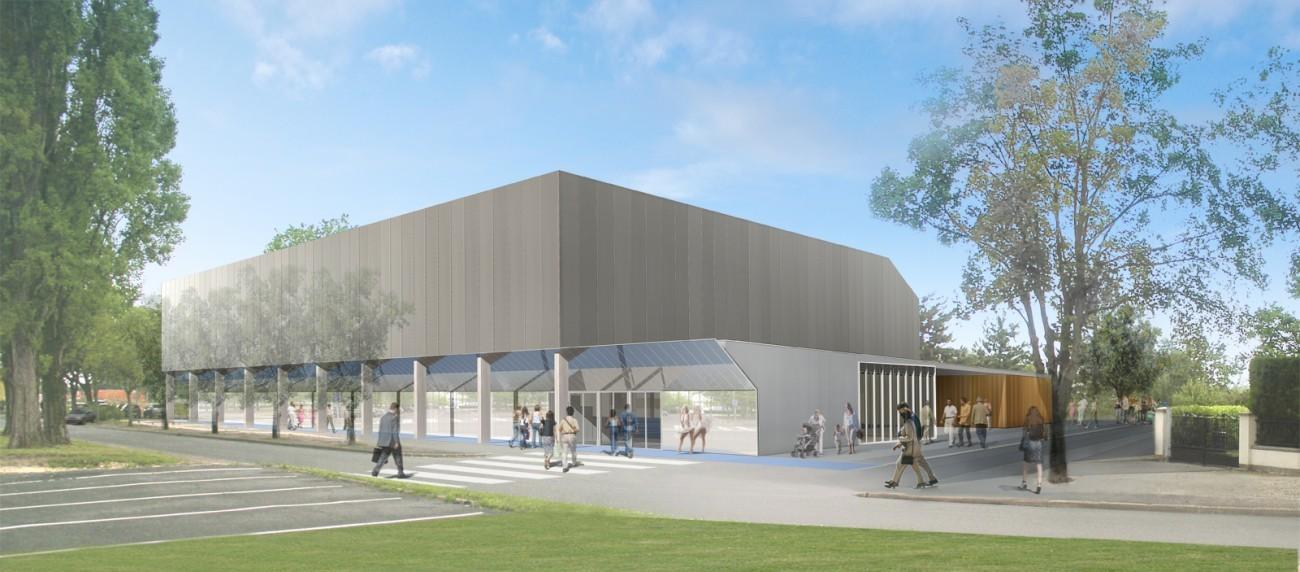 bourgueil rouleau architectes construction du gymnase des merlattes bourges 18. Black Bedroom Furniture Sets. Home Design Ideas